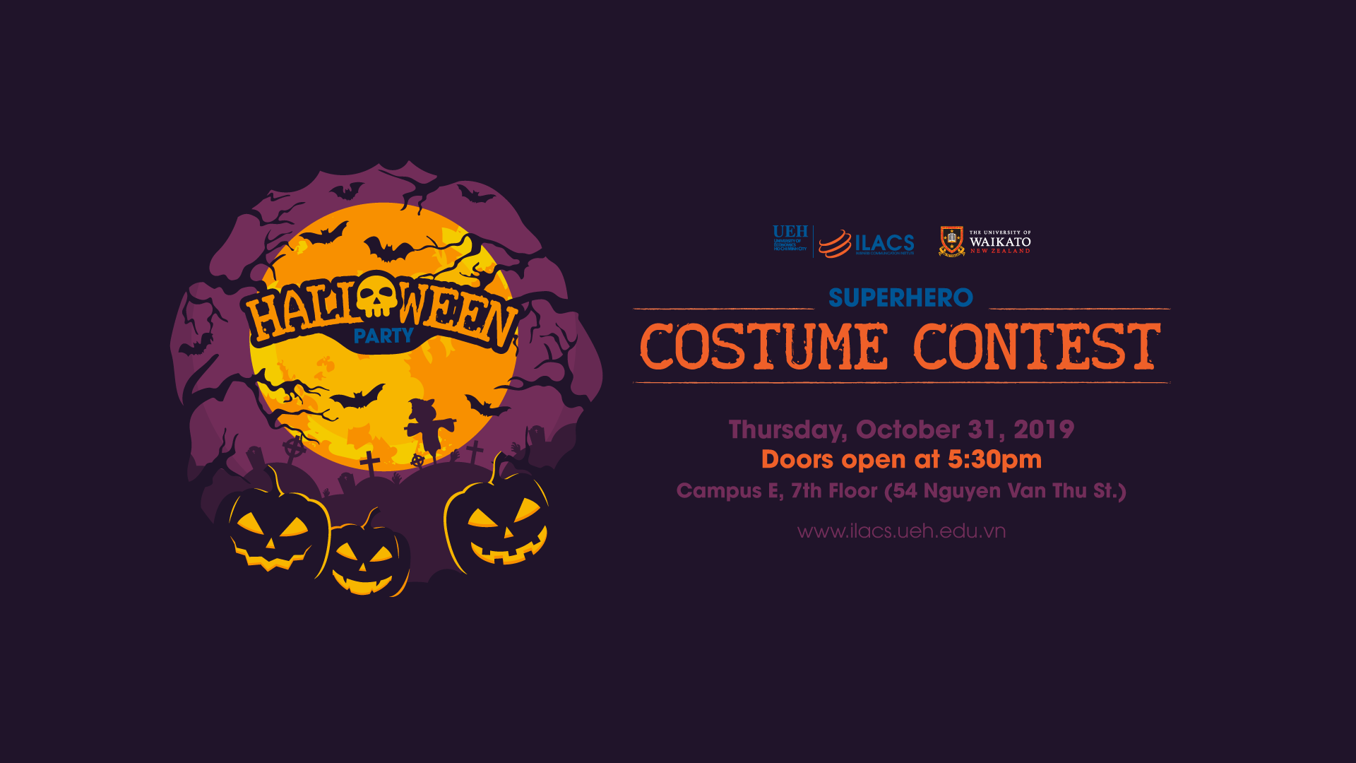 "ILACS – Halloween Party 2019: ""Superhero Costume Contest"""
